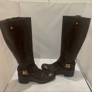 Michael Kors Tall Riding Boots in Brown